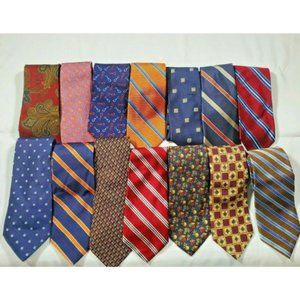 Lot of 14 Brooks Brothers Men's 100% Silk